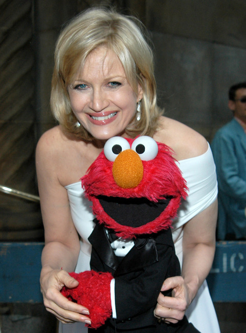 Elmo with Diane Sawyer