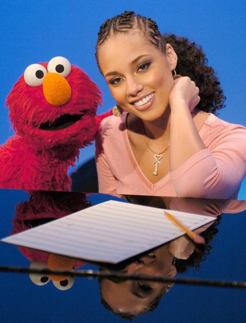 Elmo with Alicia Keys