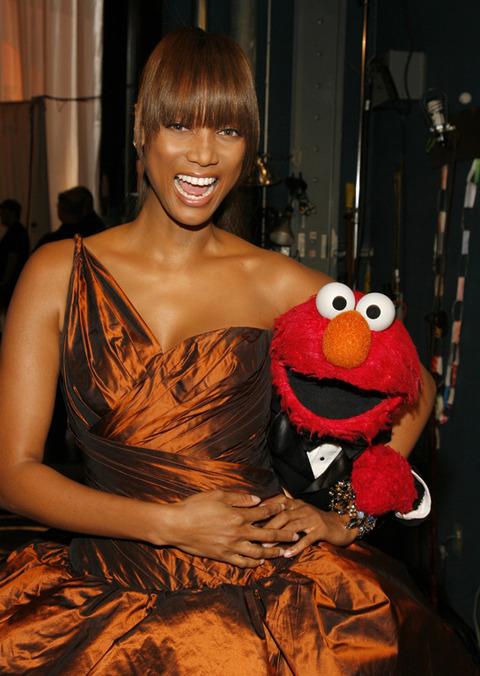 Elmo with Tyra Banks