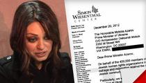 Mila Kunis -- Targeted By Anti-Semitic Ukrainian Politician