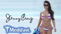 Jenny Craig -- We'll Pass On Kim Kardashian's Pregnant Ass