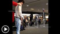 'Twilight' Actor Bronson Pelletier -- PEEING in the Airport Terminal!! [VIDEO]