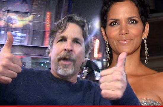 Halle Berry -- Dunked BARE BREAST in Guacamole on Movie 43 Set