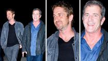 Mel Gibson & Gerard Butler -- Boys Night Out