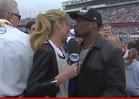 50 Cent and Erin Andrews -- Awkward Daytona 500 Kiss