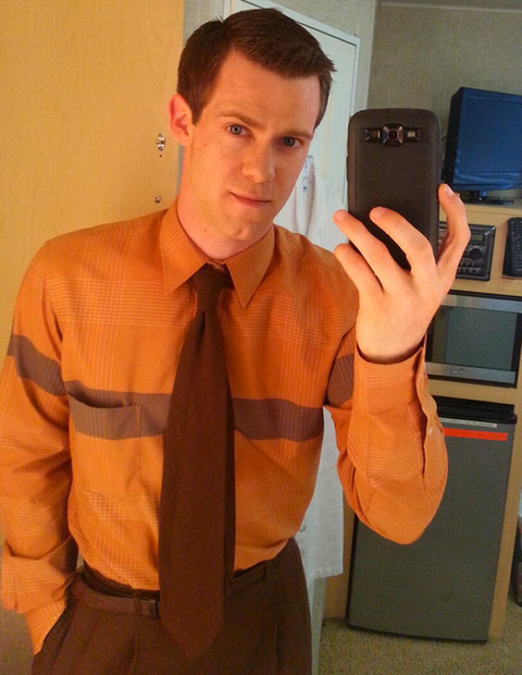 Bug Hall  posted a selfie while on set of a Showtime show.