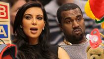 Kim Kardashian -- REFUSING BABY GIFTS ... Seeking Donations Instead