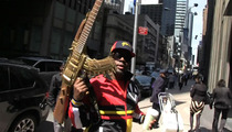 Wyclef Jean -- Roaming NYC with ASSAULT RIFLE GUITAR
