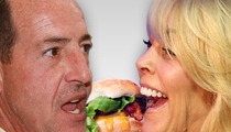 Dina and Michael Lohan -- HAMBURGER SUMMIT!!!
