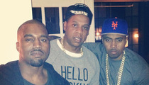Kanye West's Birthday -- Parties with Rap Gods ... But Where's Kim Kardashian?