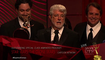 George Lucas -- Thanks Black People for 'NCAA' Award