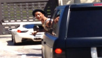 Justin Bieber's Posse -- TERRORIZING CALABASAS ... CAUGHT ON TAPE!