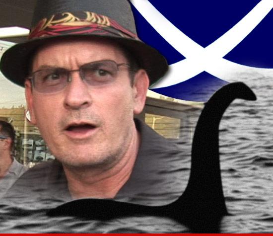 Charlie Sheen -- Gone Fishin for the Loch Ness Monster
