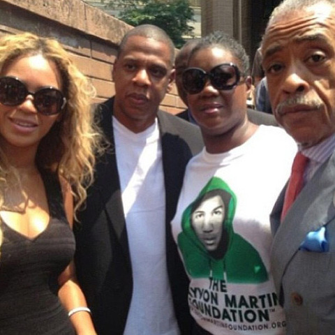 <strong>Jay Z</strong><span> and</span><strong> Beyonce</strong><span> have made it clear -- they believe justice was NOT served in the shooting death of </span><strong>Trayvon Martin</strong><span> ... they spent Saturday protesting the laws which allowed his killer to walk.</span>