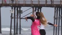 Pro Surfer Anastasia Ashley -- Pre-Surf Warm-Up TWERK