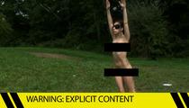 Lady Gaga -- Full Frontal Nudity in Weird Yoga Forest