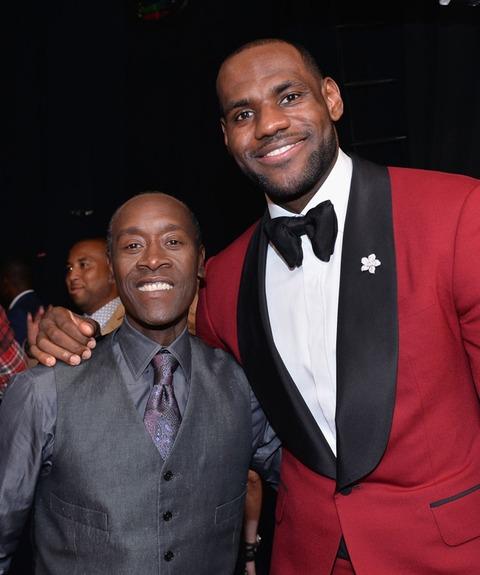 Don Cheadle and LeBron James
