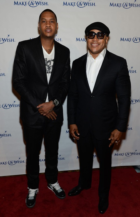 Carmelo Anthony and LL Cool J