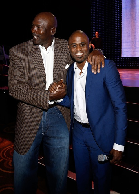 Michael Jordan and Wayne Brady