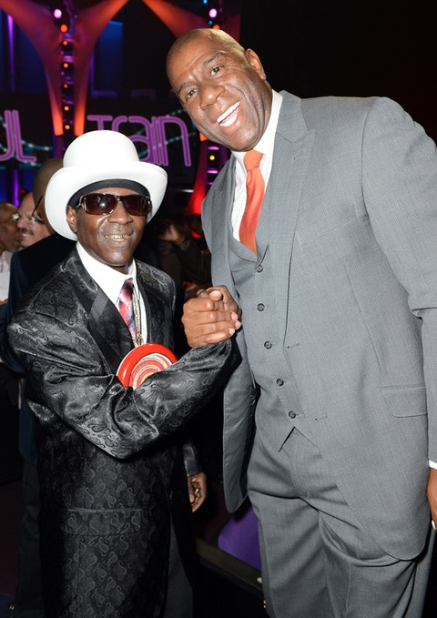 Flavor Flav and Earvin Johnson