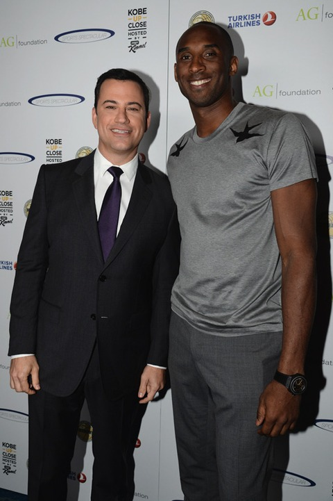 Jimmy Kimmel and Kobe Bryant