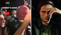 Robert Pattinson SHOVES Security Guard [Video]