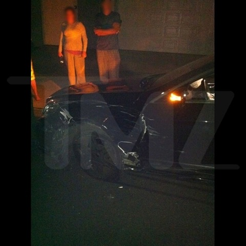Conrad Hilton crashed into a parked car after leaving a nightclub