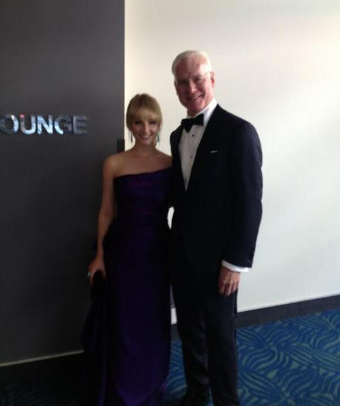 Melissa Rauch and Tim Gunn