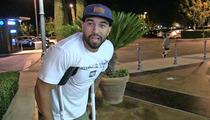 Matt Kemp -- Hobbles on Crutches, But Positive Dodgers Will Win