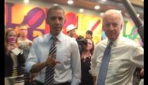 Barack Obama & Joe Biden -- SUB SANDWICH SUMMIT