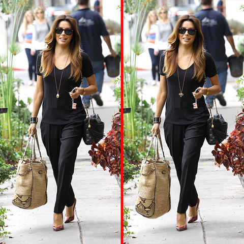 Can you spot the THREE differences in the Eva Longoria picture?