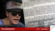 Justin Bieber to Guests -- This Party Will Cost You $3 Mil ... If You Blab!
