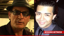 Charlie Sheen Sex Tape  Linked to Missing Witness