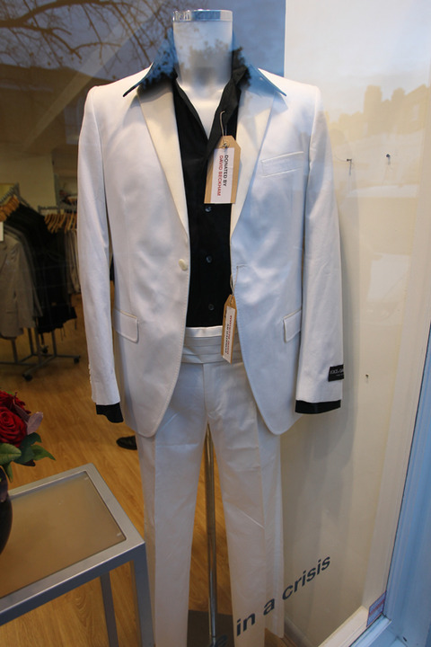 <span>David and Victoria Beckham's clothes on display at The British Red Cross Store in Chelsea where they were donated to The British Red Cross.</span>