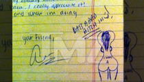 Aaron Hernandez -- DRAWING NAKED WOMEN ... to Pass the Time in Jail
