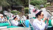Amanda Bynes At Disneyland Acting Goofy