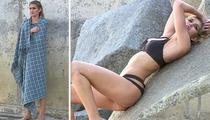 Ryan Seacrest's New Chick Shayna Taylor -- Bikini Modeling Debut ... ON A FREEZING BEACH