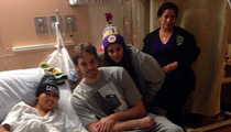 Pau Gasol -- Spends Day at Children's Hospital ... Puts in the Effort Where it Counts