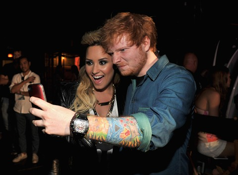 Demi Lovato and Ed Sheeran snapped a cute one!