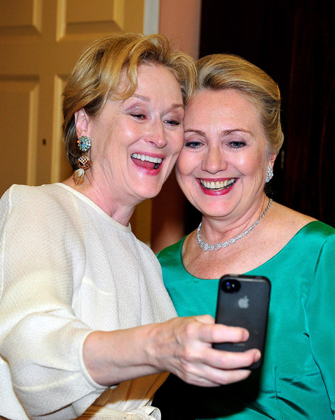 Meryl Streep and Hilary Clinton snapped one powerful photo!