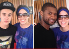Justin Bieber -- Usher in Panama for Save Justin Summit