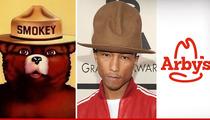 Pharrell's Hat ON FIRE -- Smokey Bear Don't Care
