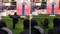 Adam Vinatieri -- Superstar Kicker EATS IT HARD ... During Field Goal Attempt