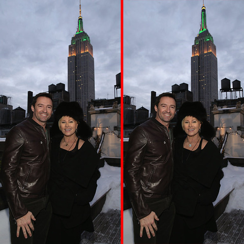 Can you spot the THREE differences in the Hugh Jackman and Deborra Lee Furness picture?