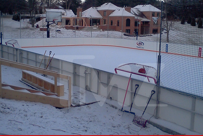 U0027cause The Guy Just Dropped HALF A MILLION DOLLARS On A Full Size Ice Rink  In His BACKYARD, TMZ Sports Has ...