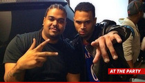 Chris Brown -- Took Rehab Break ... To Party His Face Off