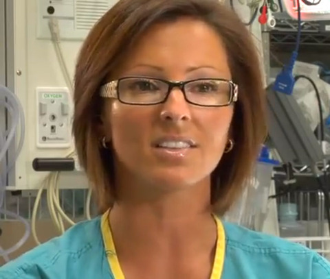 Marcie Leeds -- now a surgeon -- was interviewed looking like a lifesaver!