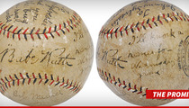 Babe Ruth -- Legendary 'I'll Knock a Homer for You' Ball ... SOLD at Auction For $250K