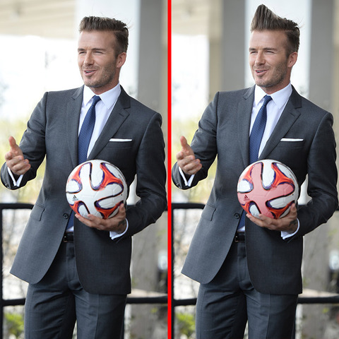 Can you spot the THREE differences in the David Beckham picture?
