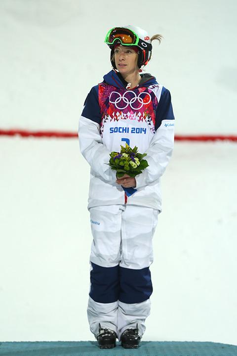 Bronze medalist Hannah Kearney -- Ladies Moguls